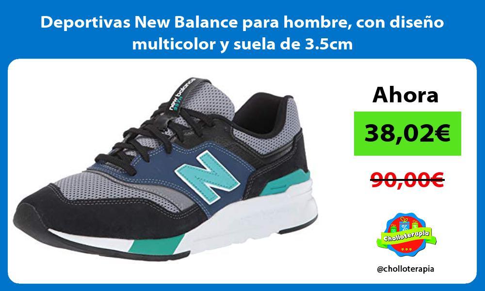 Deportivas New Balance para hombre con diseño multicolor y suela de 3 5cm