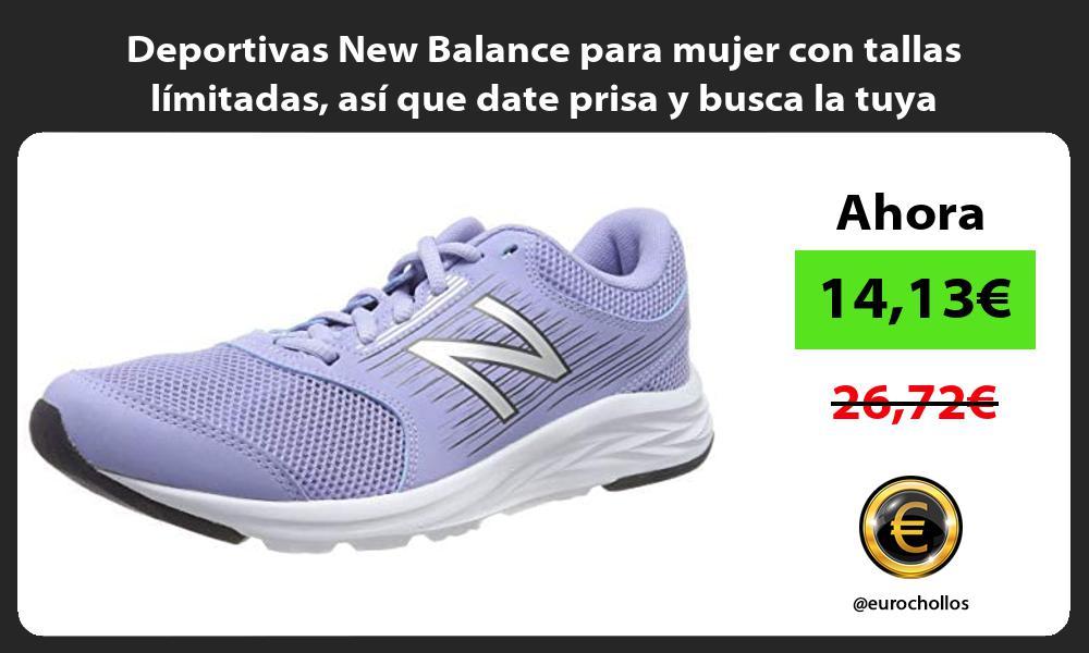 Deportivas New Balance para mujer con tallas límitadas así que date prisa y busca la tuya