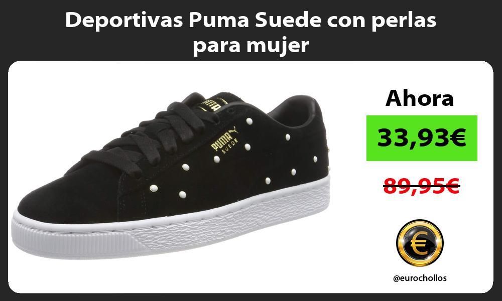 Deportivas Puma Suede con perlas para mujer