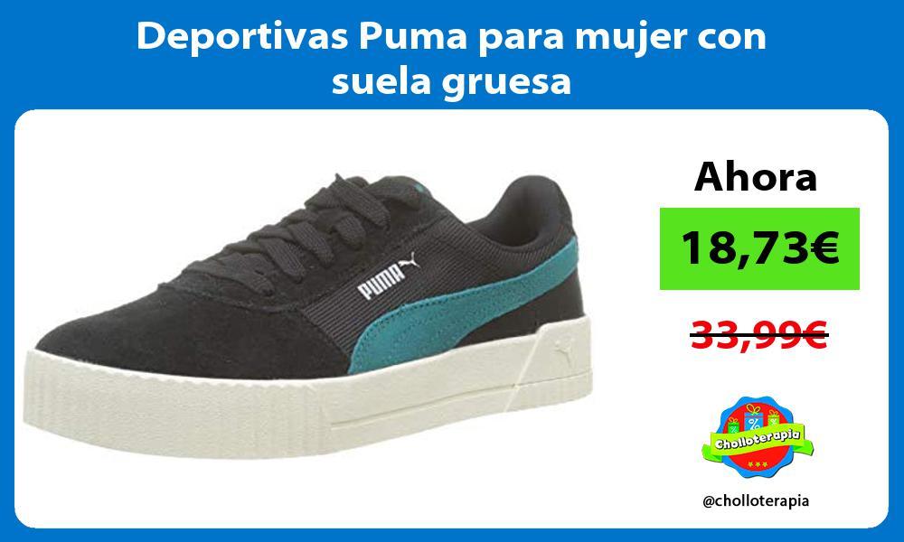 Deportivas Puma para mujer con suela gruesa