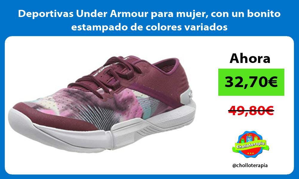 Deportivas Under Armour para mujer con un bonito estampado de colores variados