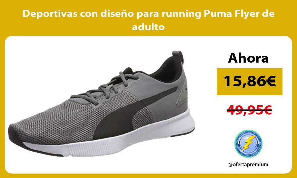 Deportivas con diseño para running Puma Flyer de adulto