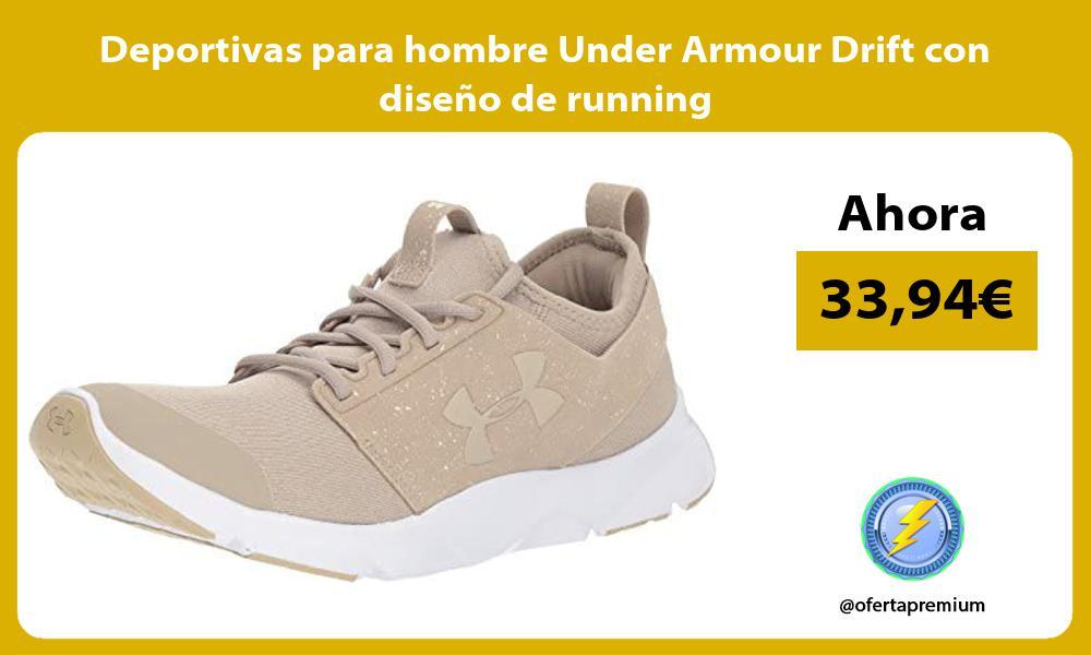 Deportivas para hombre Under Armour Drift con diseño de running