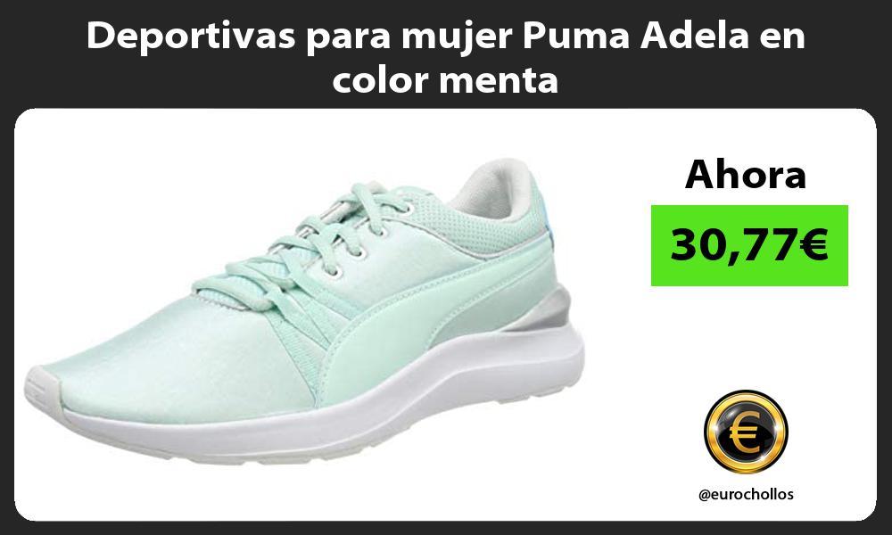 Deportivas para mujer Puma Adela en color menta