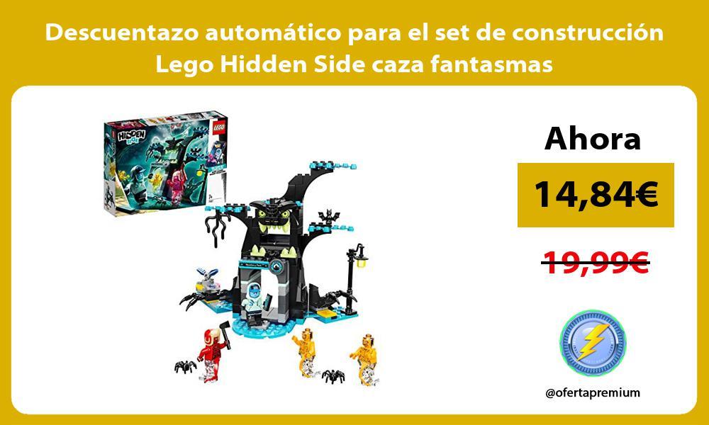 Descuentazo automático para el set de construcción Lego Hidden Side caza fantasmas