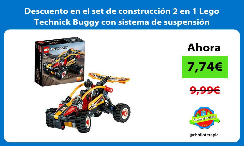 Descuento en el set de construcción 2 en 1 Lego Technick Buggy con sistema de suspensión