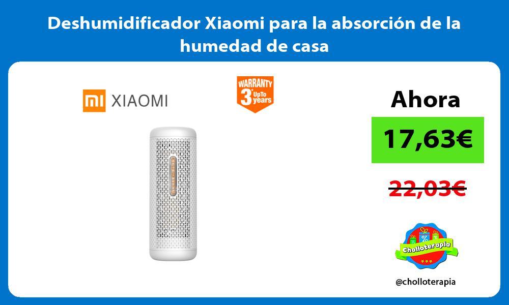 Deshumidificador Xiaomi para la absorción de la humedad de casa