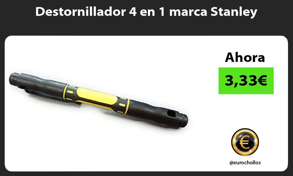 Destornillador 4 en 1 marca Stanley