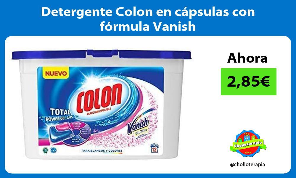 Detergente Colon en cápsulas con fórmula Vanish