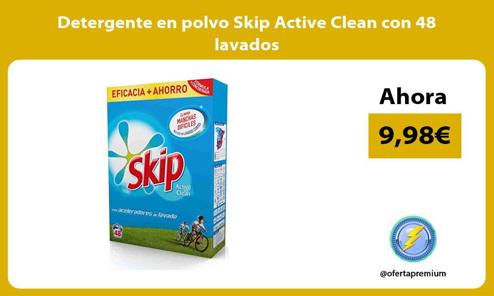 Detergente en polvo Skip Active Clean con 48 lavados