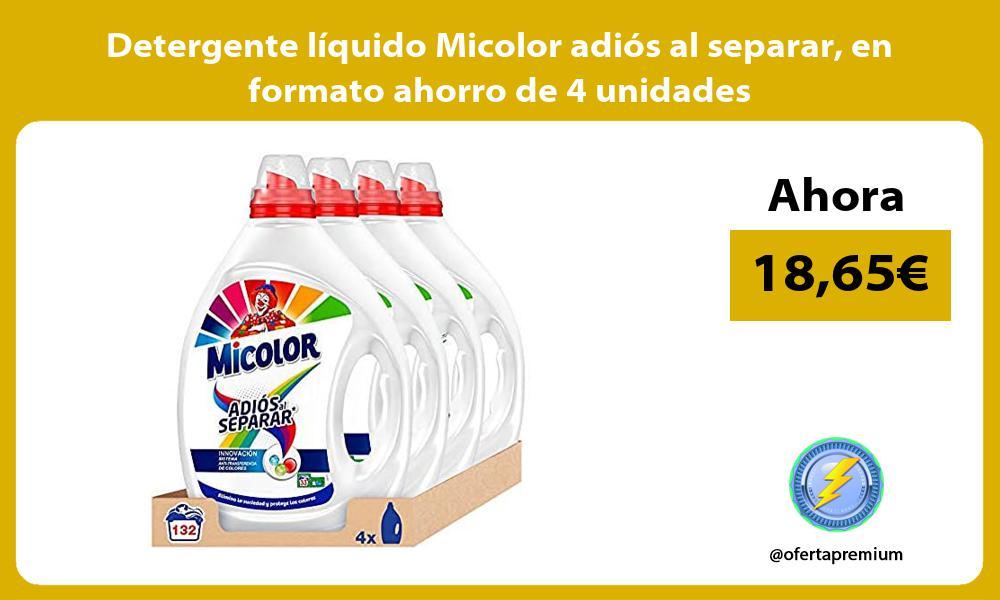 Detergente líquido Micolor adiós al separar en formato ahorro de 4 unidades