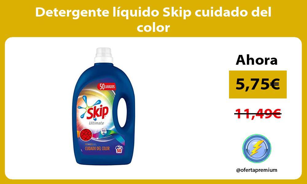 Detergente líquido Skip cuidado del color