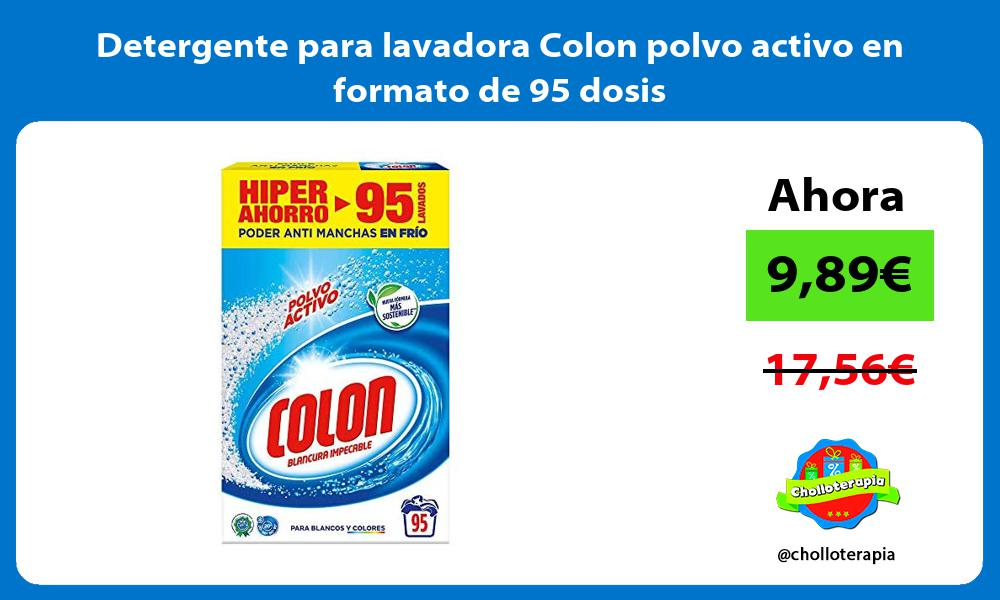 Detergente para lavadora Colon polvo activo en formato de 95 dosis