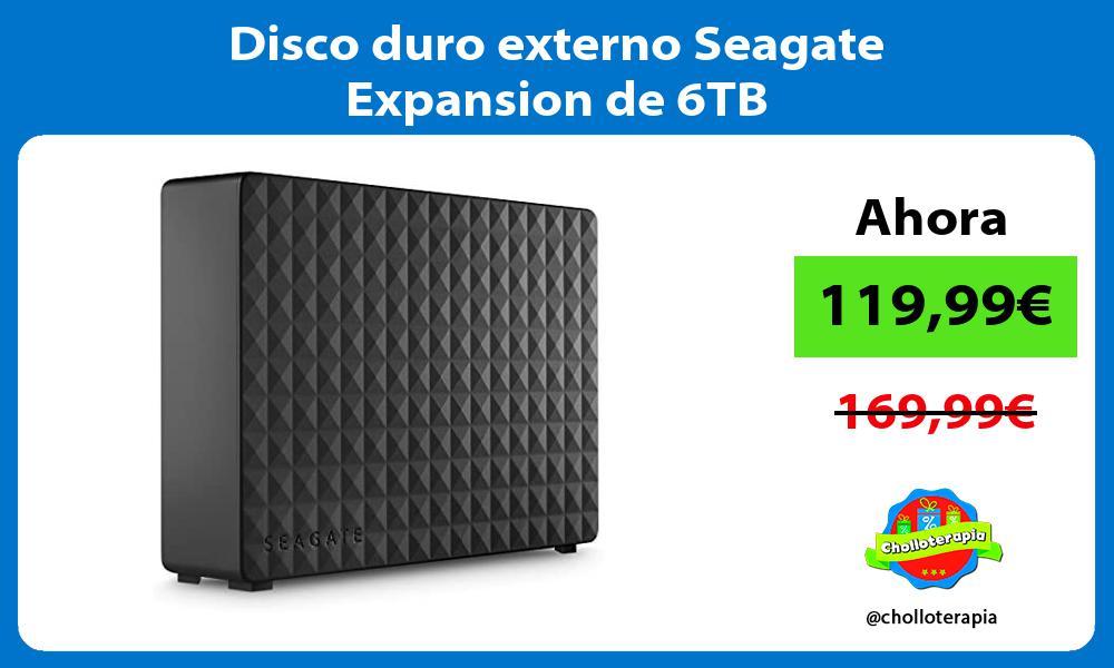 Disco duro externo Seagate Expansion de 6TB