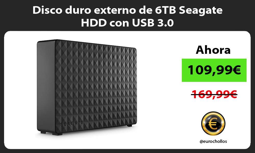 Disco duro externo de 6TB Seagate HDD con USB 3 0