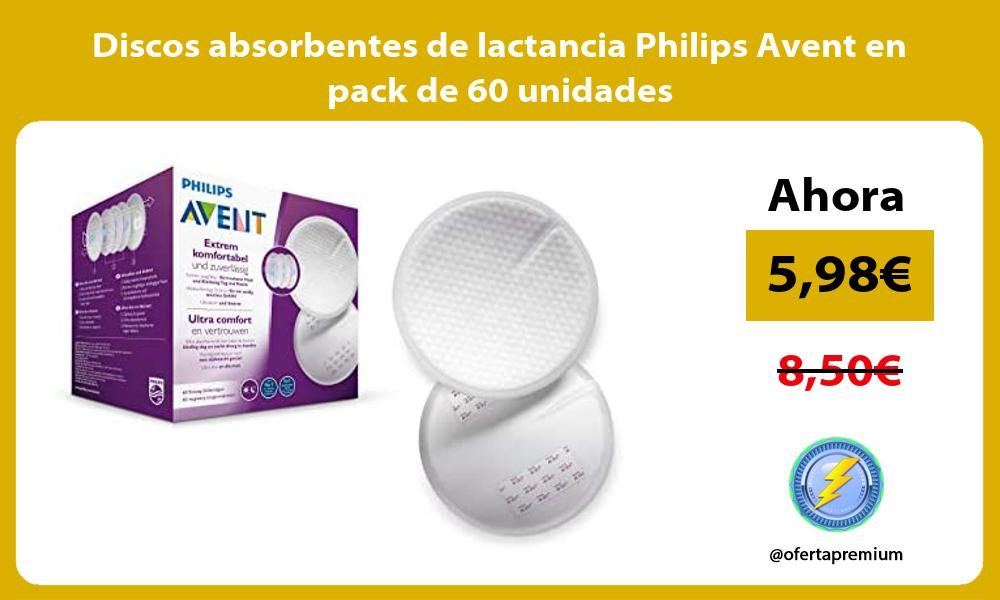 Discos absorbentes de lactancia Philips Avent en pack de 60 unidades