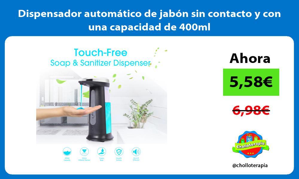 Dispensador automático de jabón sin contacto y con una capacidad de 400ml