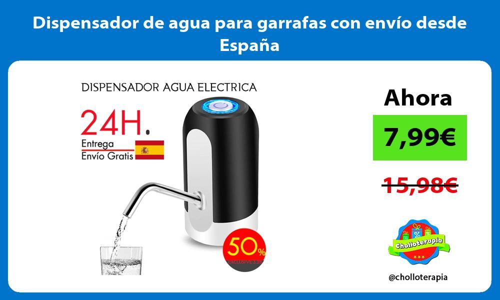 Dispensador de agua para garrafas con envío desde España