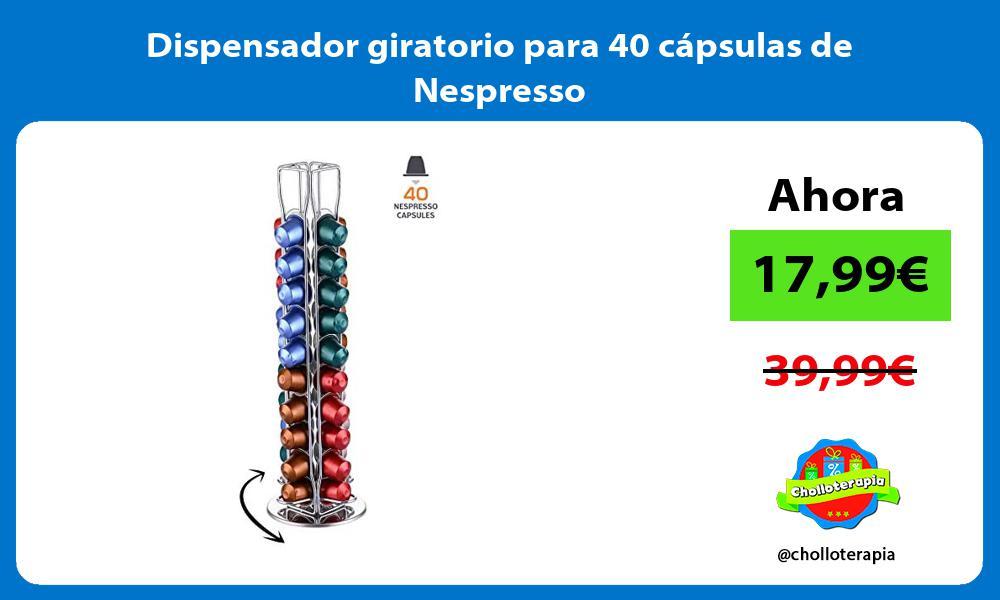 Dispensador giratorio para 40 cápsulas de Nespresso