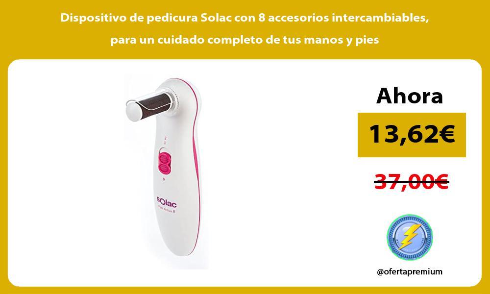 Dispositivo de pedicura Solac con 8 accesorios intercambiables para un cuidado completo de tus manos y pies