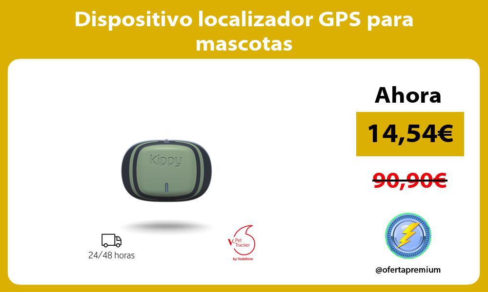 Dispositivo localizador GPS para mascotas