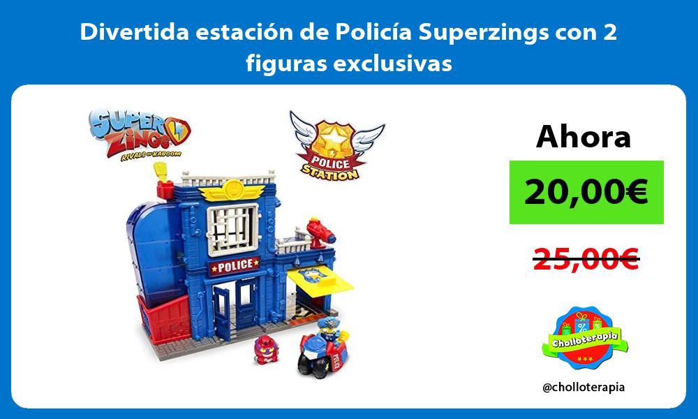 Divertida estación de Policía Superzings con 2 figuras exclusivas