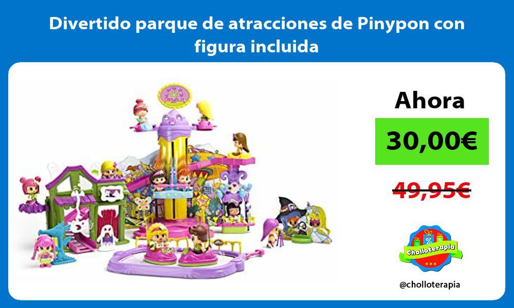 Divertido parque de atracciones de Pinypon con figura incluida