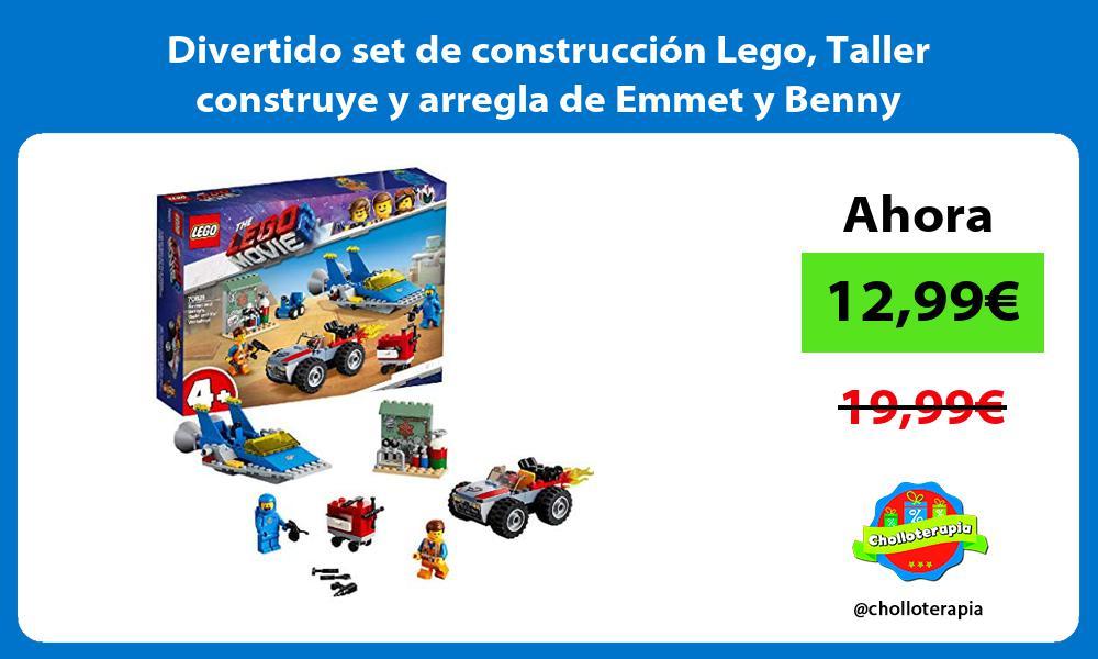 Divertido set de construcción Lego Taller construye y arregla de Emmet y Benny