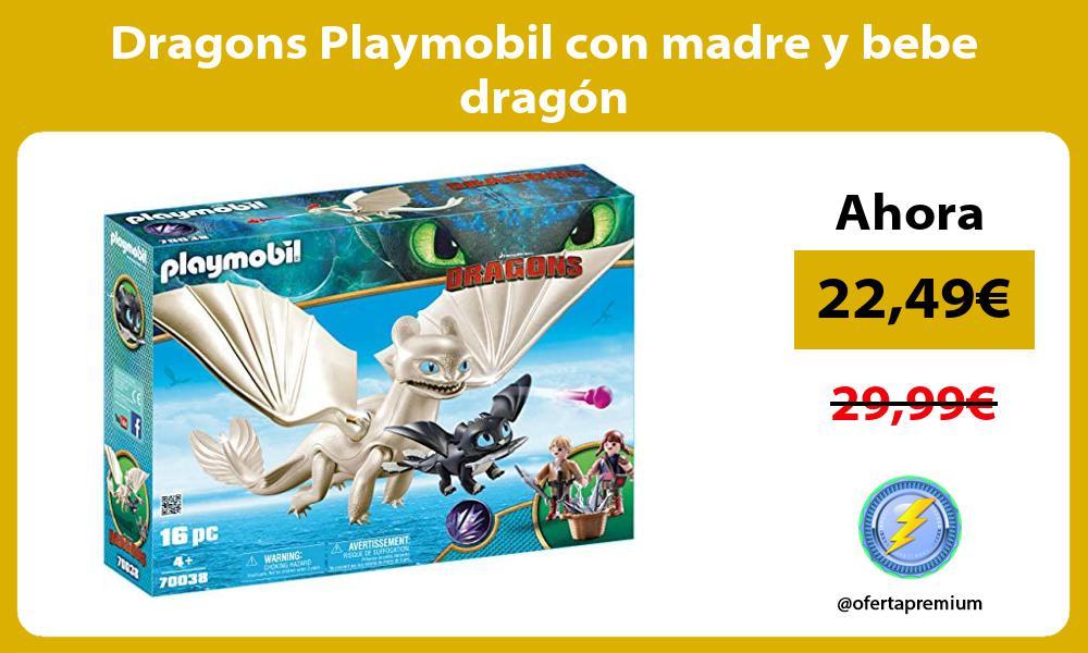 Dragons Playmobil con madre y bebe dragón