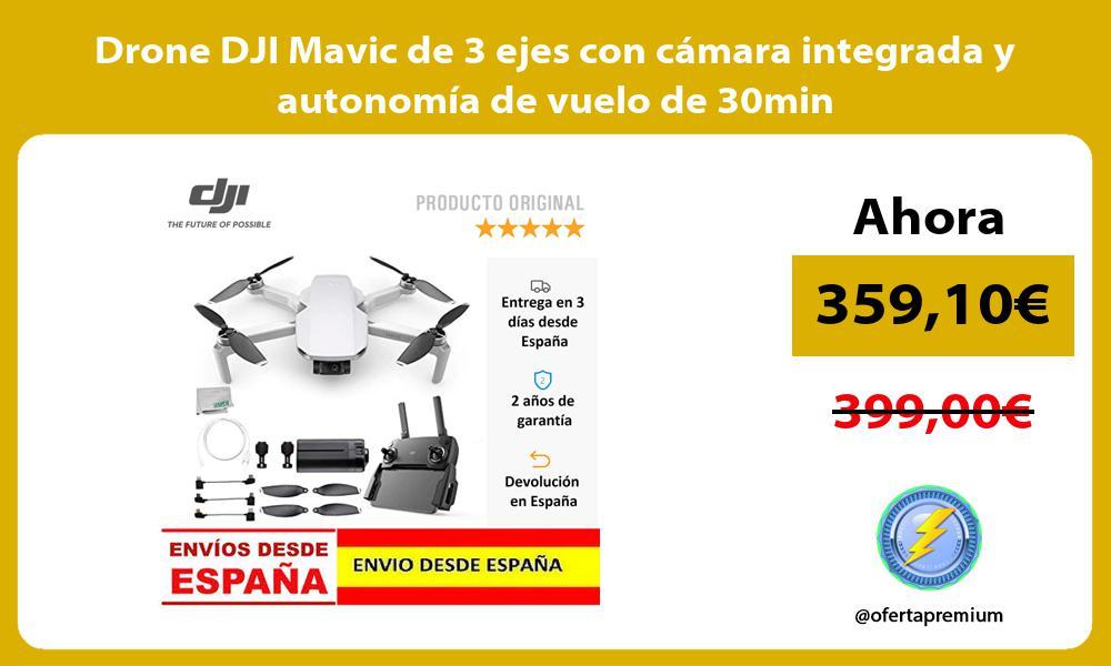 Drone DJI Mavic de 3 ejes con cámara integrada y autonomía de vuelo de 30min