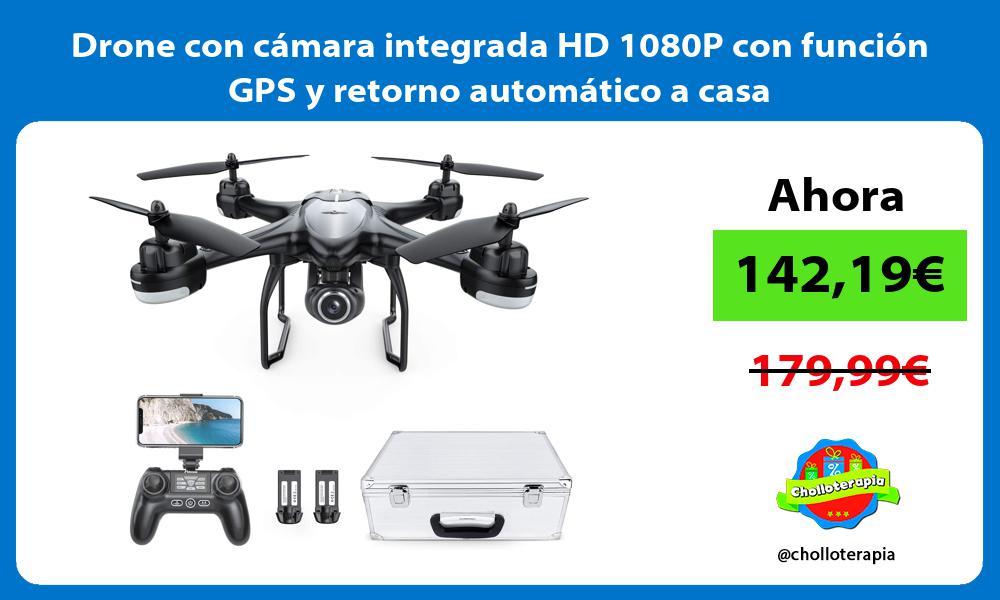 Drone con cámara integrada HD 1080P con función GPS y retorno automático a casa