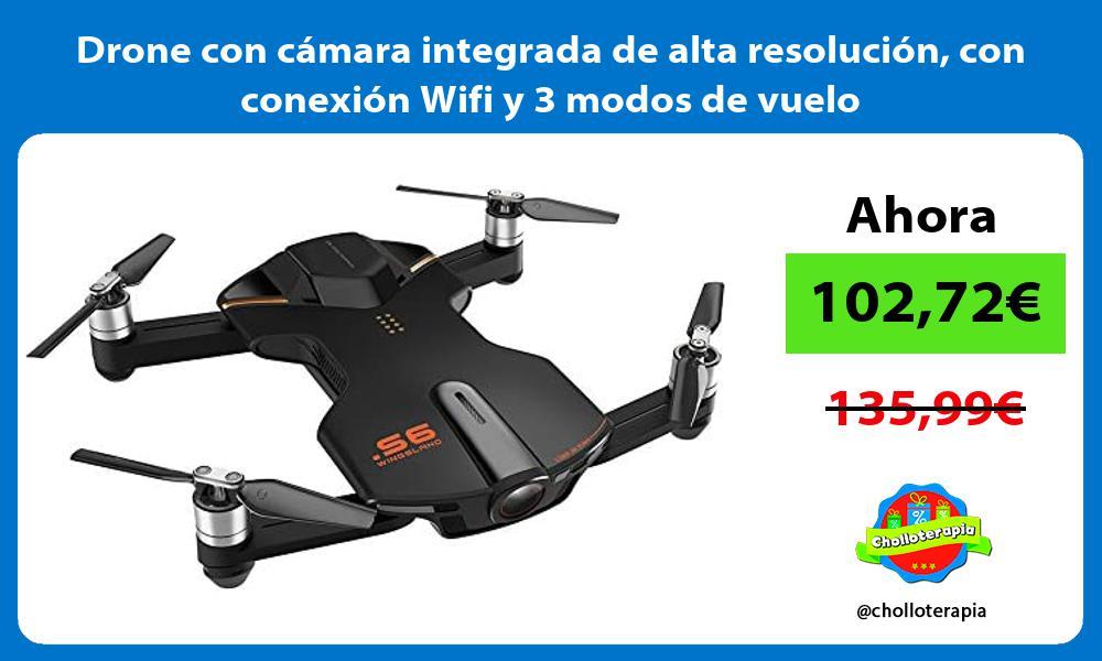 Drone con cámara integrada de alta resolución con conexión Wifi y 3 modos de vuelo
