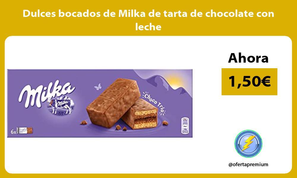 Dulces bocados de Milka de tarta de chocolate con leche