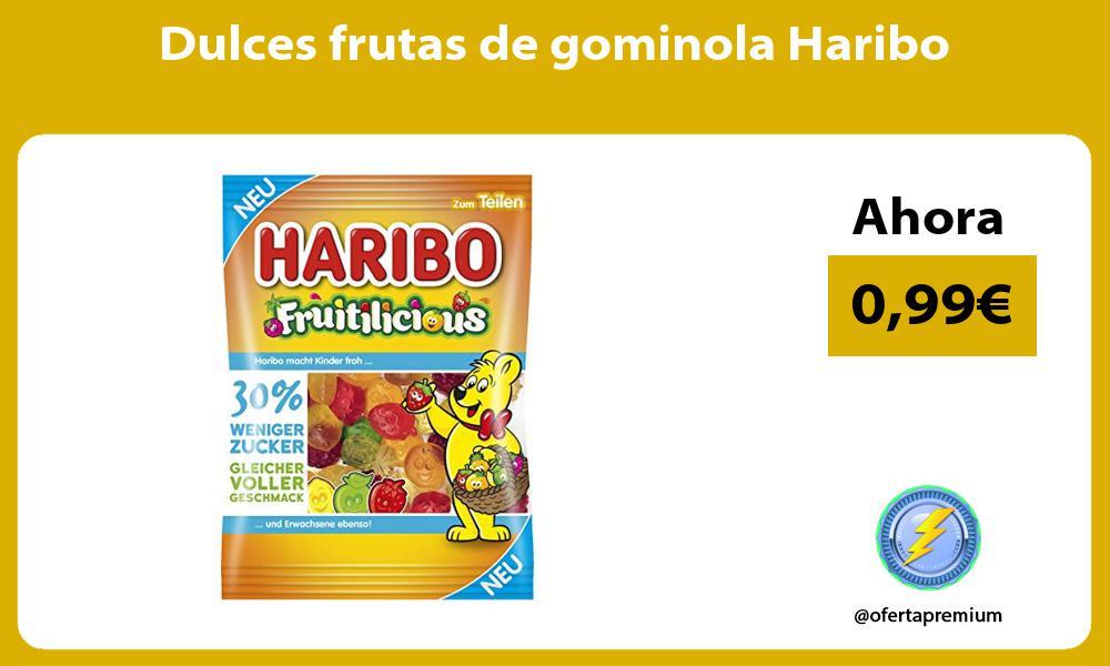 Dulces frutas de gominola Haribo