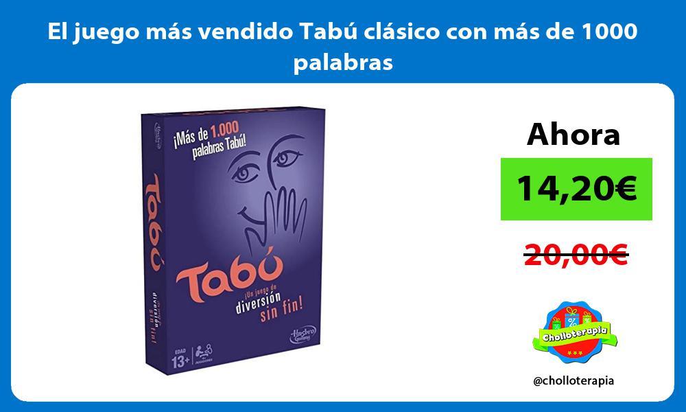 El juego más vendido Tabú clásico con más de 1000 palabras