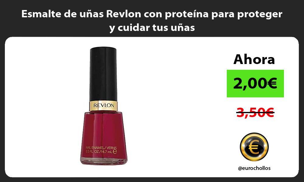 Esmalte de uñas Revlon con proteína para proteger y cuidar tus uñas