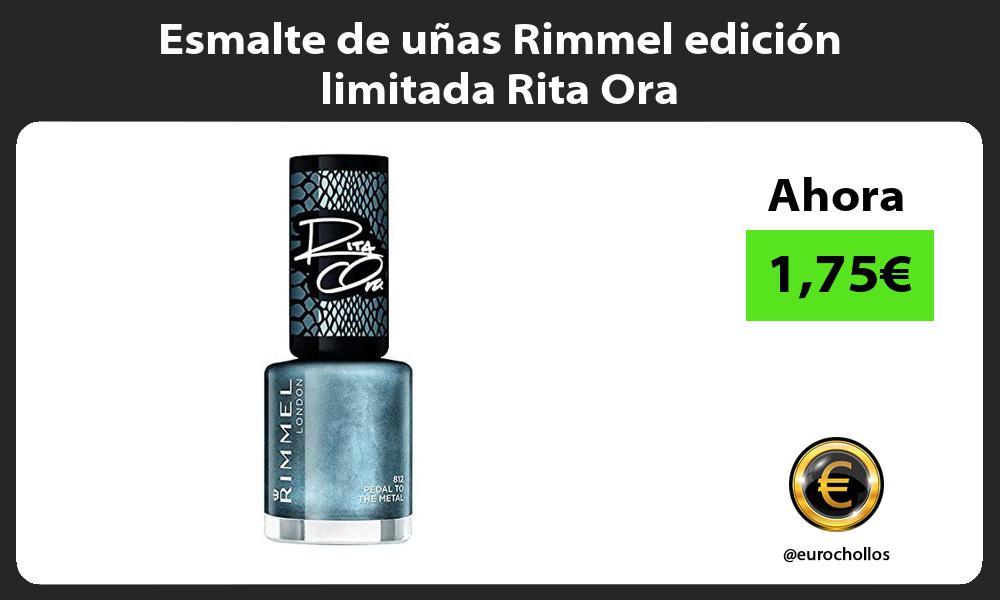 Esmalte de uñas Rimmel edición limitada Rita Ora