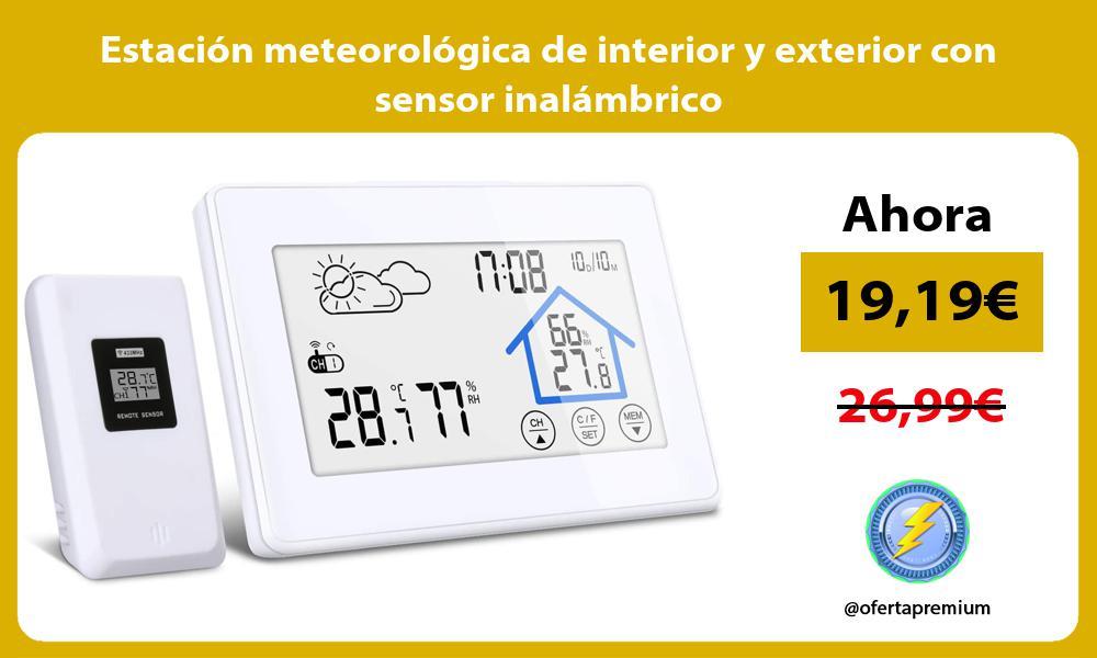 Estación meteorológica de interior y exterior con sensor inalámbrico