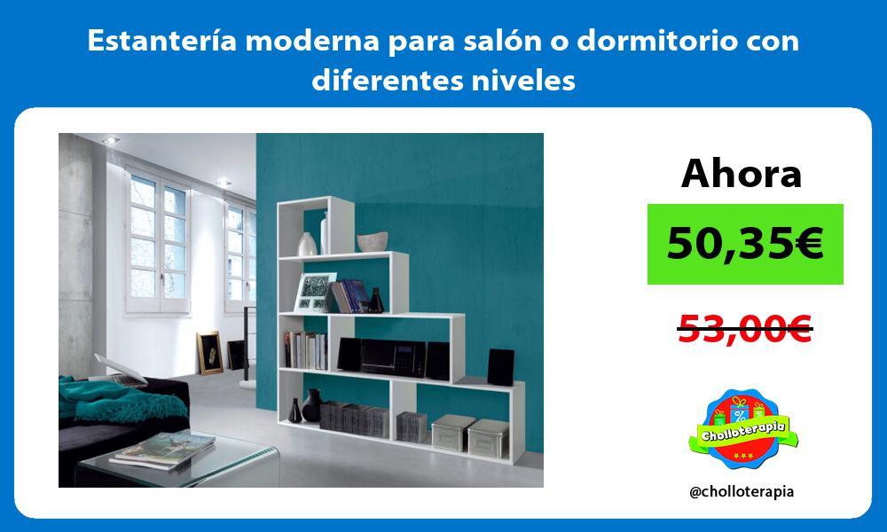 Estantería moderna para salón o dormitorio con diferentes niveles