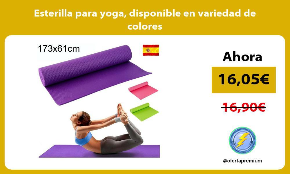 Esterilla para yoga disponible en variedad de colores
