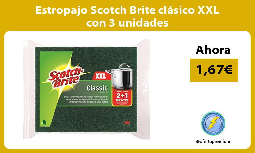 Estropajo Scotch Brite clásico XXL con 3 unidades