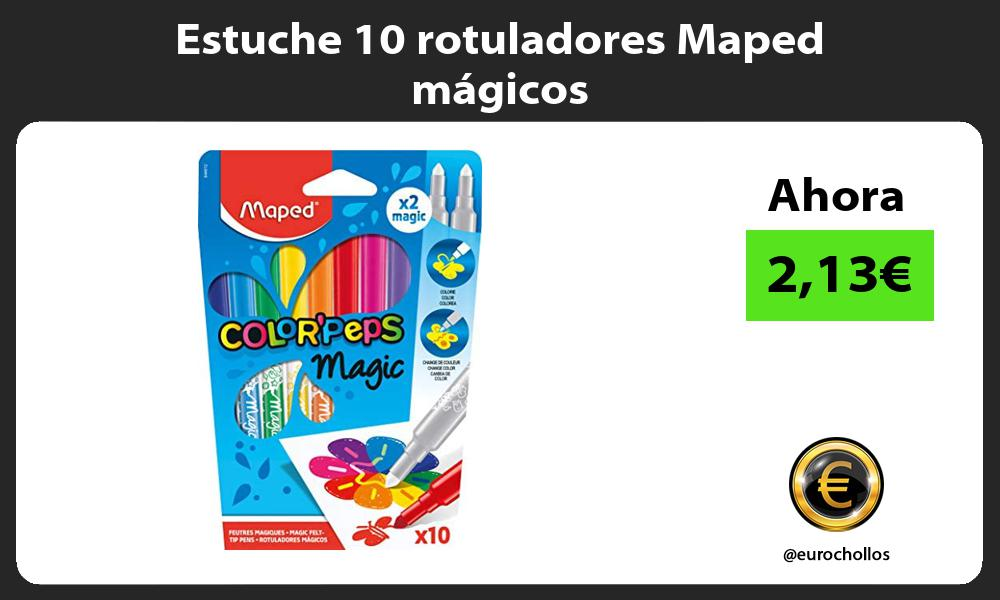 Estuche 10 rotuladores Maped mágicos