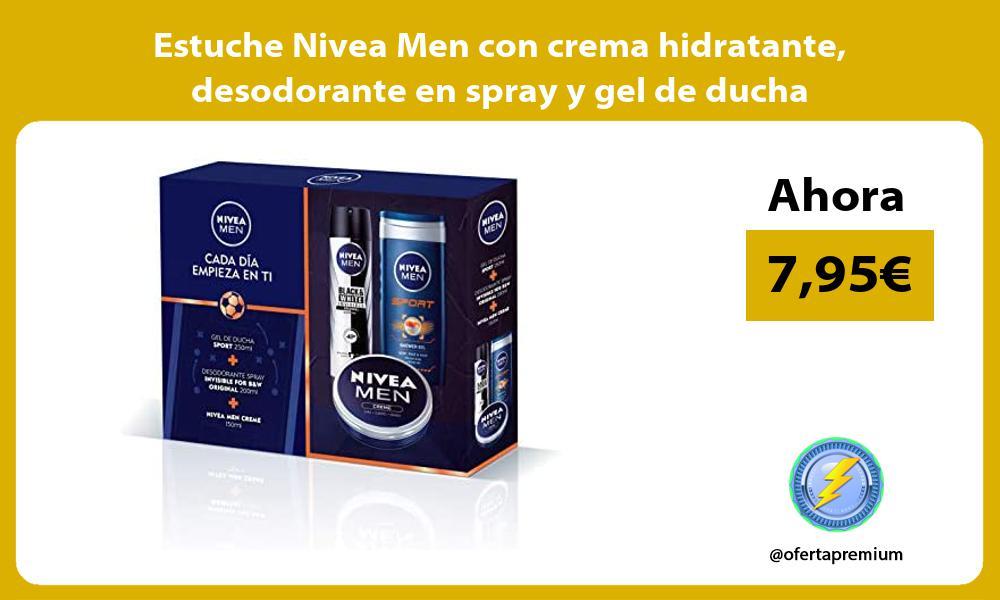 Estuche Nivea Men con crema hidratante desodorante en spray y gel de ducha