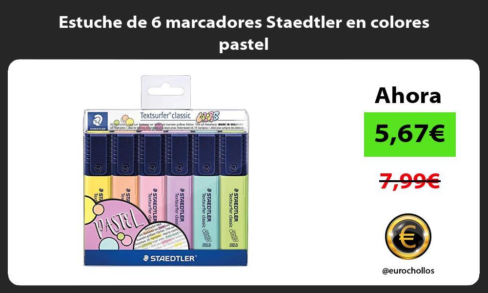 Estuche de 6 marcadores Staedtler en colores pastel