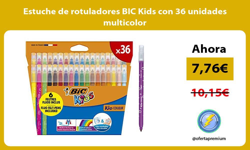 Estuche de rotuladores BIC Kids con 36 unidades multicolor
