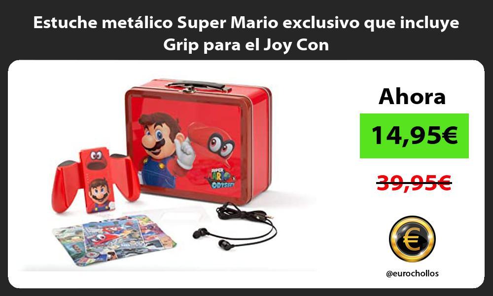 Estuche metálico Super Mario exclusivo que incluye Grip para el Joy Con