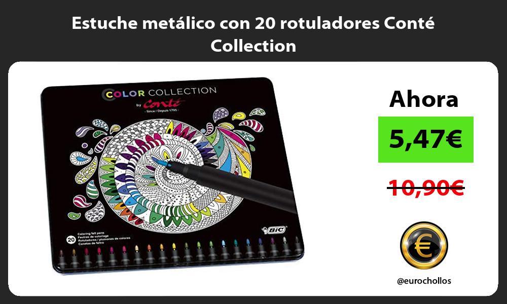 Estuche metálico con 20 rotuladores Conté Collection