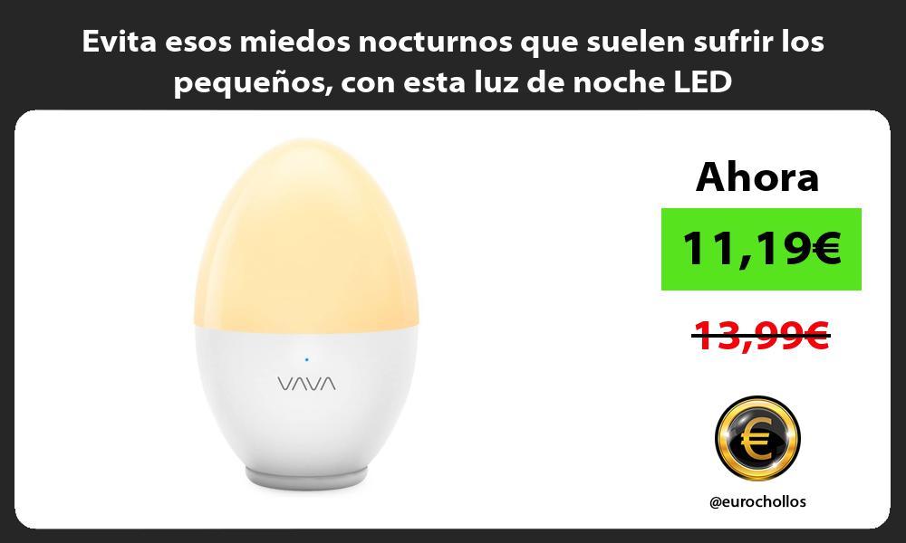 Evita esos miedos nocturnos que suelen sufrir los pequeños con esta luz de noche LED