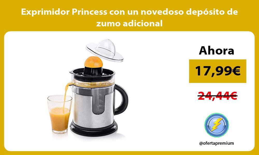 Exprimidor Princess con un novedoso depósito de zumo adicional