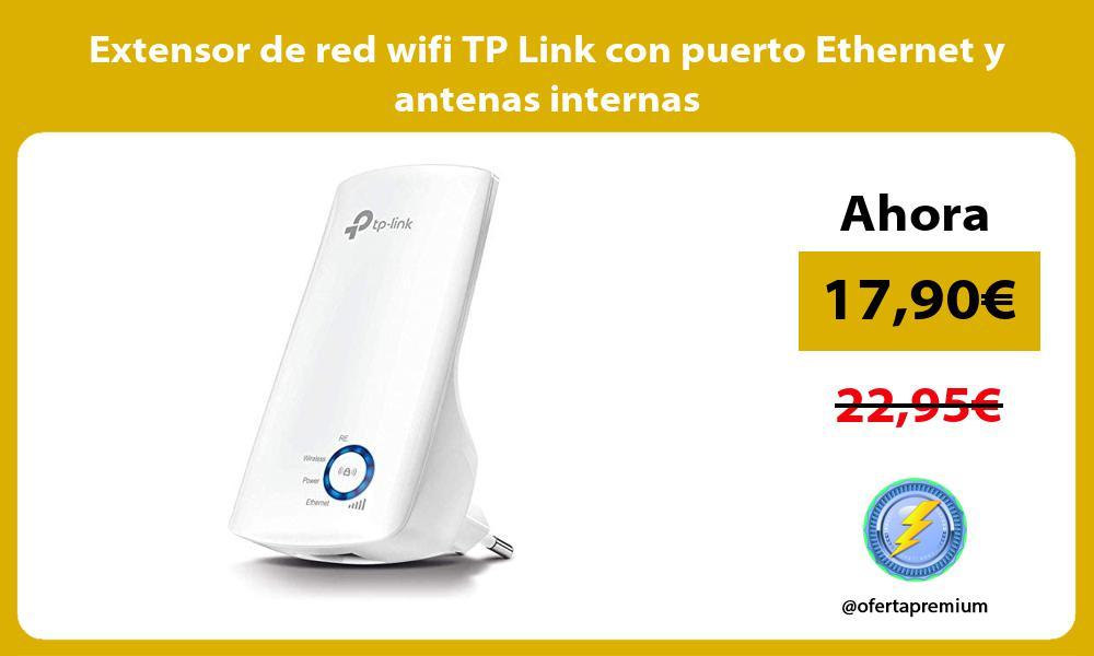 Extensor de red wifi TP Link con puerto Ethernet y antenas internas